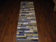 Runners 60x220cm Aprox 8ft Hand Carved Super Quality Brick Design silver/yellow